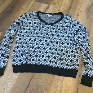 Diamond printed long sleeve shirt
